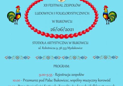 Festiwal Zespołów Ludowych i Folklorystycznych w Bukowcu